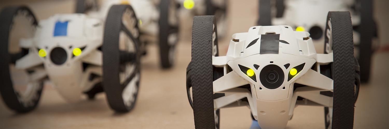 Drohnen-Rennen mit Streckenbau